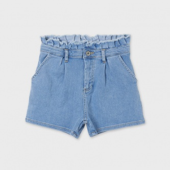 Shorts lys denim frynser