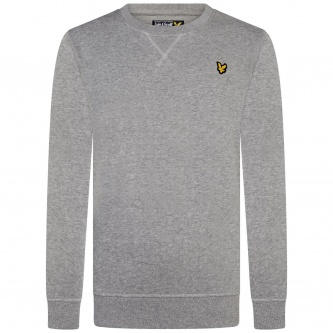 Genser Crew Neck Fleece Vintage Grey Heather