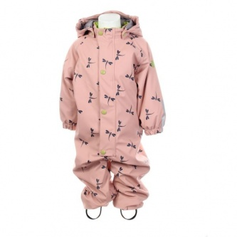 Regndress Baby Insekt misty pink