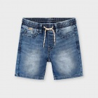 Shorts jogger denim blå