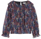 Bluse Floral Ruffle Top
